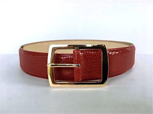 Cinturon de cuero Folia rojo