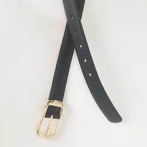 Correa en cuero negro de 2.5 cms