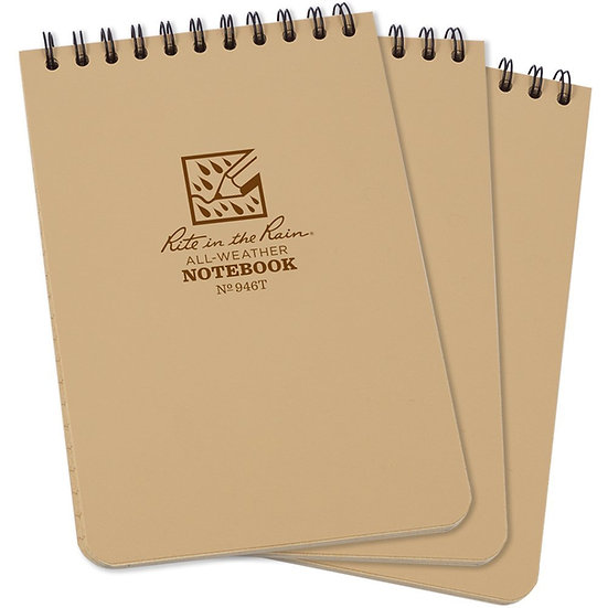 Rite in the Rain Top Spiral Notebook 4x6 3 Pack