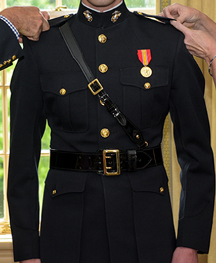 Placement of multiple rows of medals on dress blue coat cost