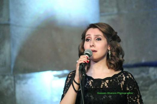 """من حفل """"أصواتهن"""" مع الأوركسترا الوطنية الأردنية، في مسرح الأوديون  برعاية مؤسسة عبد الحميد شومان"""