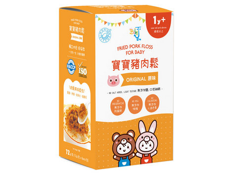 BABY J Fried Chicken Floss for Baby  寶寶雞肉鬆 12g x 6