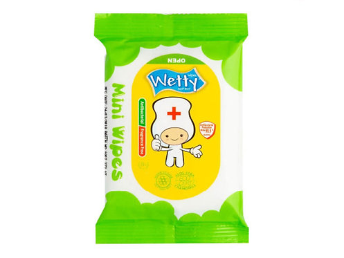 WETTY Antibacterial Wipes  99.9%消毒濕巾 8pc