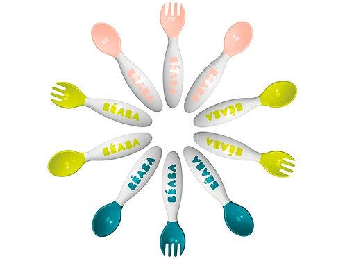 BEABA 6 Training Spoons + 4 Forks  嬰兒第二階段6匙羹及4叉組合