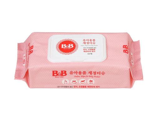 B&B Baby Product Surface Wipes  嬰幼兒多用途殺菌濕紙巾 60片