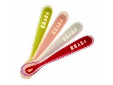BEABA Silicone Ergonomic Stage1 Spoons 4pc  矽質第一階段匙羹4支裝
