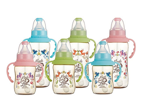 SIMBA PPSU Straw Standard Feeding Bottle + Handle 150ml/320ml  PPSU把手吸管標準葫蘆奶瓶