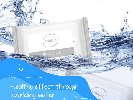 SOBBLE Sparkling Water Baby Wipes 20p  韓國清泉純淨礦泉水柔軟濕巾 20片