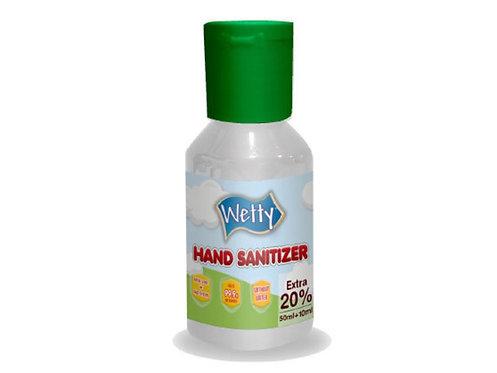 WETTY Hand Sanitizer  免水洗酒精消毒搓手液 60ml