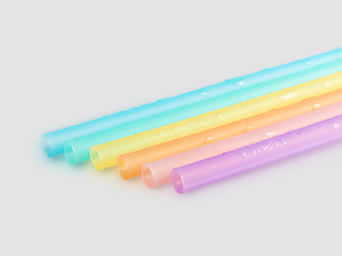 VIIDA JOY Silicone Straw,6pc  兒童食品級矽質吸管,6支