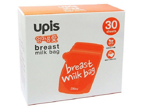 UPIS Milk Storage Bag  抗菌母乳保管袋 180ml x 30