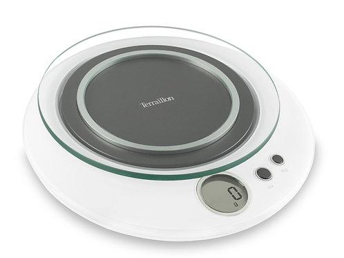TERRAILLON Electronic Kitchen Scale, Halo  圓形玻璃面電子廚房磅