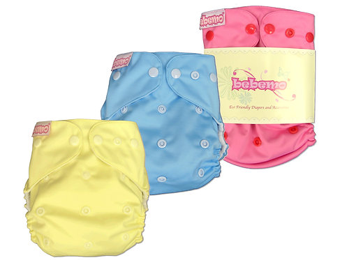 BEBEMO Eco-Friendly Reusable Cloth Diaper, Plain Colour  淨色環保尿片褲