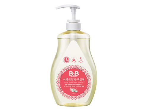 B&B Dish & Vegetable Cleanser Liquid  嬰兒餐具/蔬果清潔液 480mL