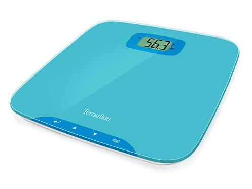 TERRAILLON Electronic BMI Bathroom Scale, Body Fit One  玻璃面板測量BMI指數電子浴室磅秤