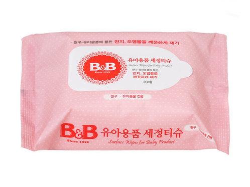 B&B Baby Product Surface Wipes  嬰幼兒多用途殺菌濕紙巾 20片