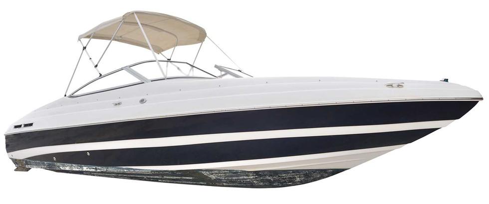 Barca con wrapping stripes black