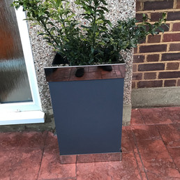 Powder Coat and Stainless steel Planter