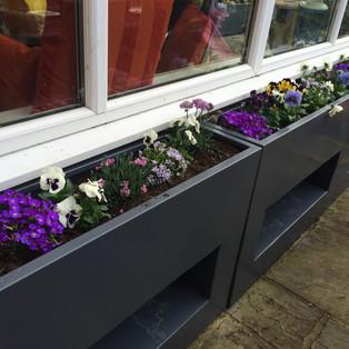 Tall cut away planters
