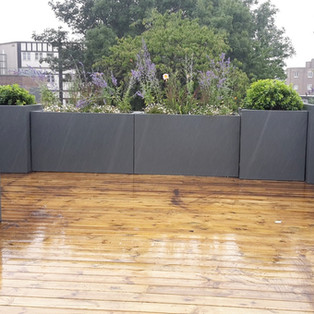 Anthracite grey roof terrace planters