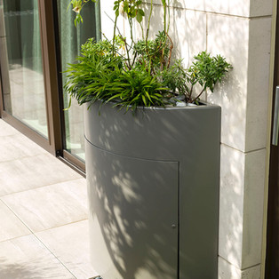 Curved Planter with Door