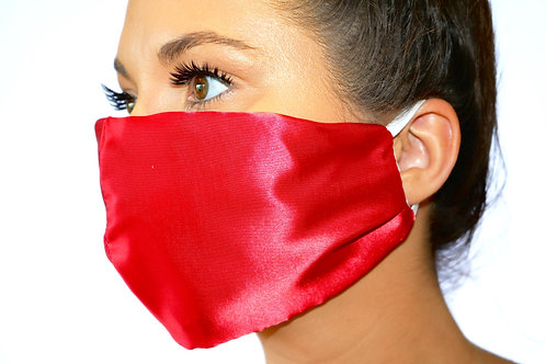 Red Satin Face Mask