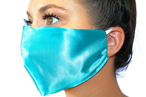 Turquoise Satin Face Mask