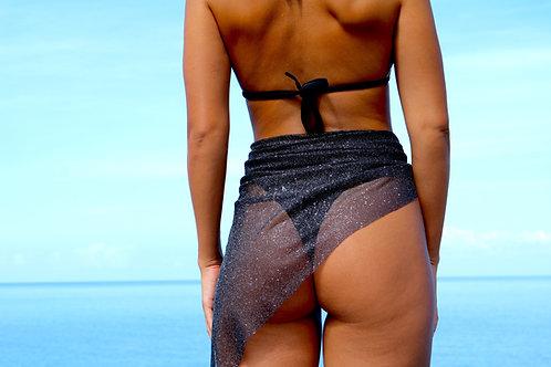 Black Sparkle Peakini Wrap