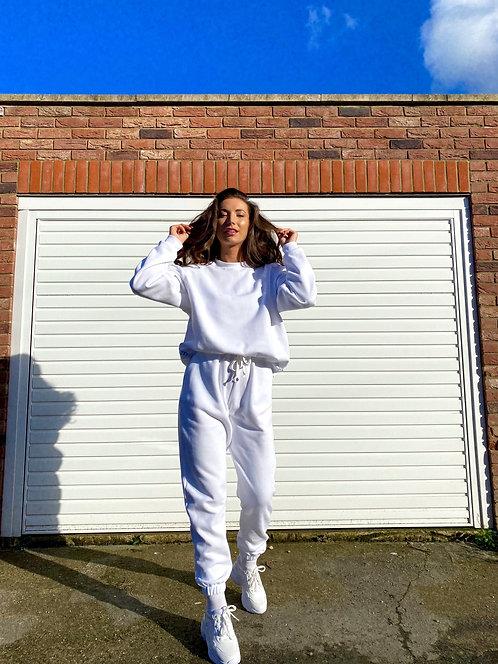 White Sweatshirt Jumper Loungewear