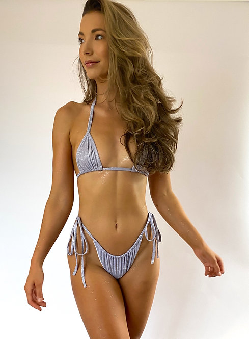 Lilac Sparkle Triangle Bikini Top Pea Street