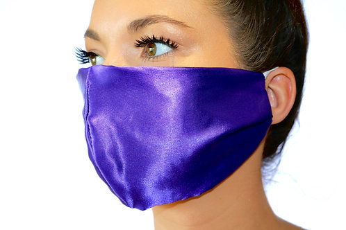 Purple Satin Face Mask