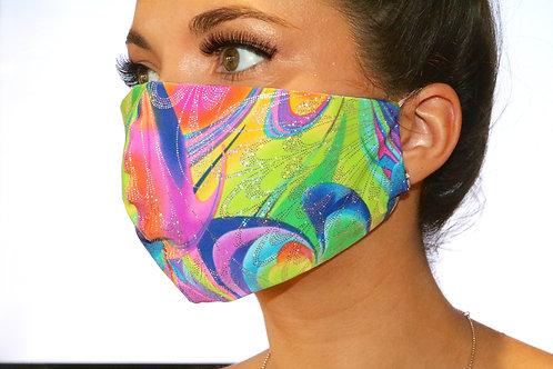 Rainbow Butterfly Face Mask