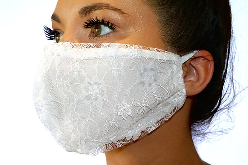 White lace Face Mask