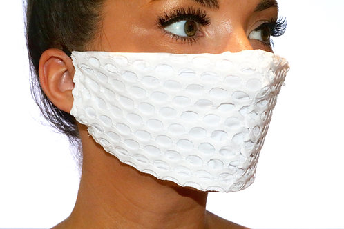 White mesh Face Mask