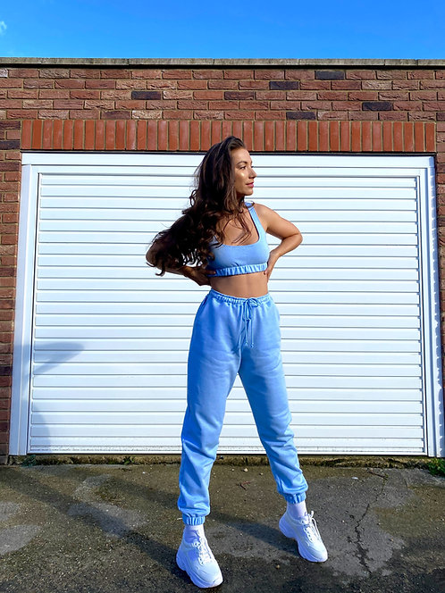 Baby Blue Crop Top Loungewear