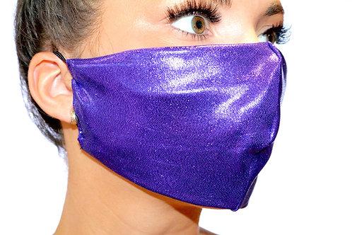 Purple Metallic Face Mask