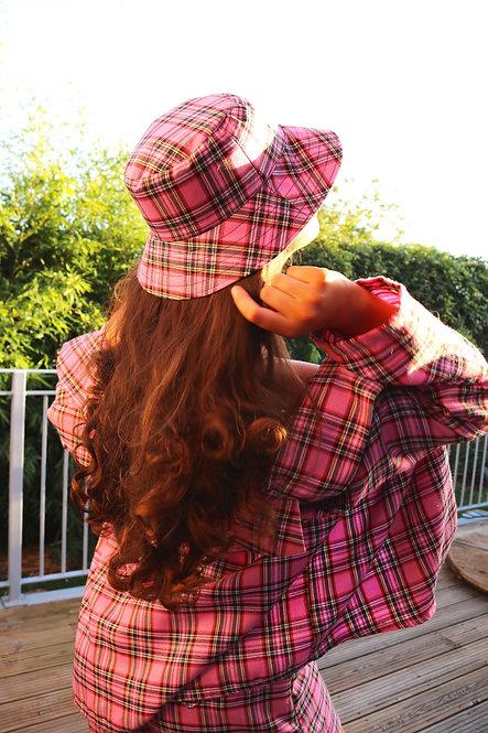 Pink Tartan Bucket Hat handmade in UK LIMITED EDITION