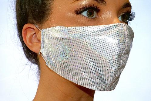Silver Metallic Face Mask