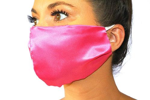 Hot Pink Satin Face Mask