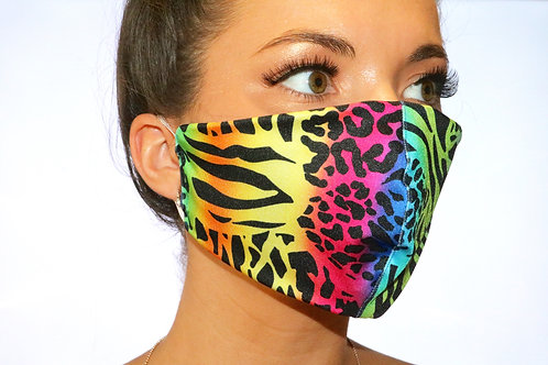 Rainbow Animal Print Face Mask