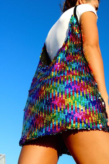 Rainbow Sequin Slip Dress