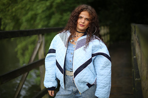 Sky Blue Quilted - Bomber Jacket