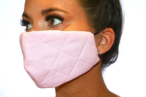 Baby Pink Quilted Face Mask