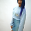 Thumbnail: Baby Blue Crop Jumper Blue Metallic Hearts