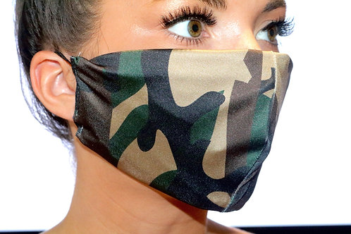 Army camo print Face Mask