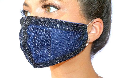 Black Sparkle Face Mask
