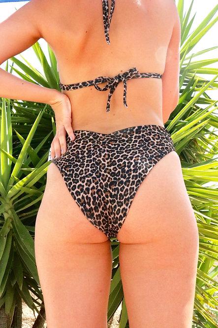 Leopard Print Peakini Bottoms