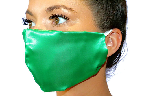 Green Satin Face Mask
