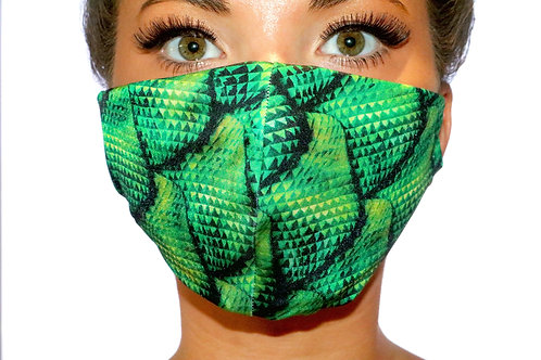 Dragon print Face Mask