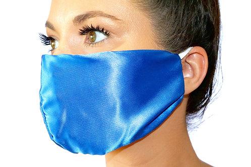 Royal Blue Satin Face Mask